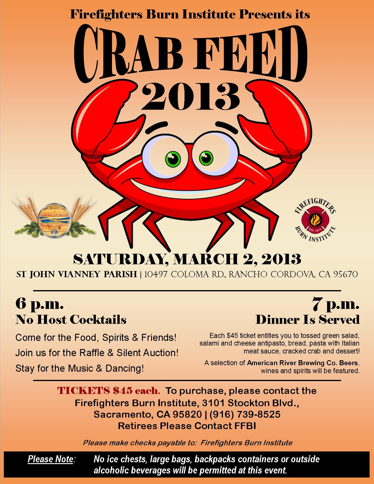 FFBI Crab Feed Flyer 2013