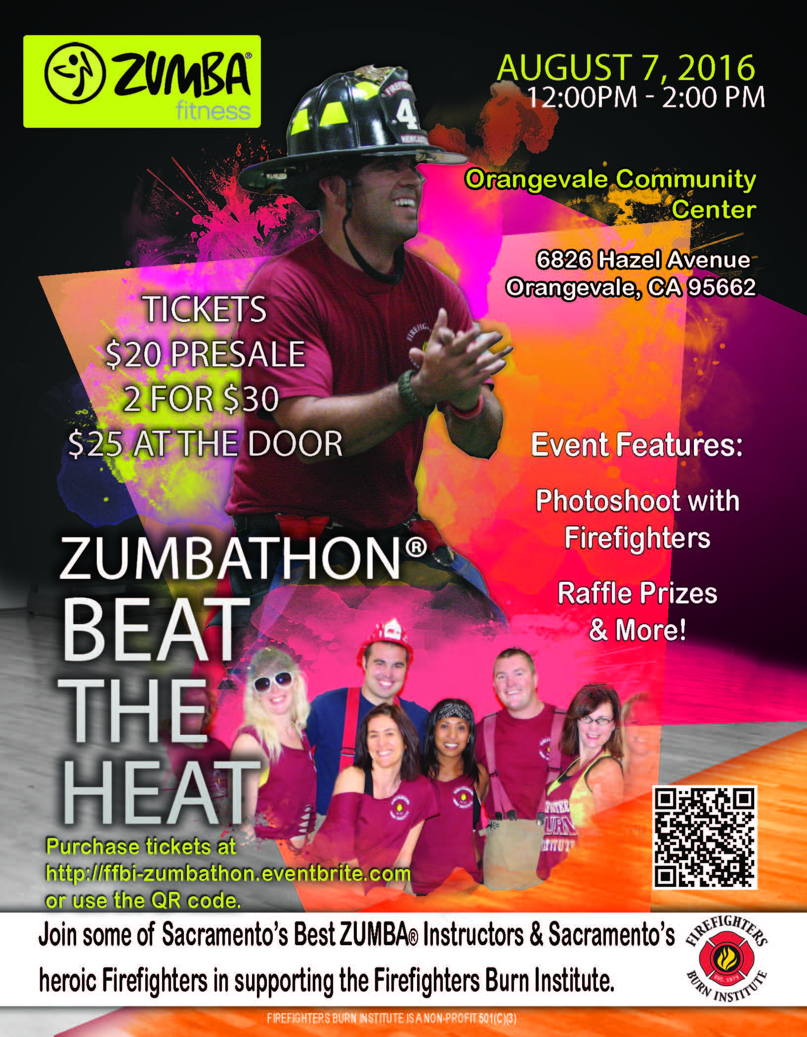 """8e4dc929e Make sure you Save the Date for the Firefighters Burn Institute, third  ZUMBATHON ®, Beat the Heat. Join us as we """"Beat the Heat"""" while exercising  with some ..."""
