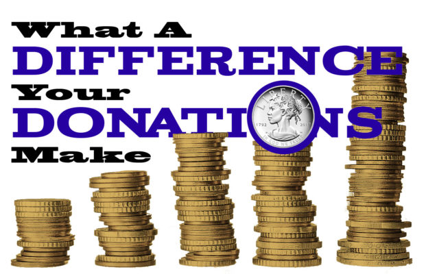 Donations Make A Difference header